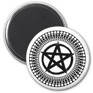Tribal Pentacle 6 Cm Round Magnet