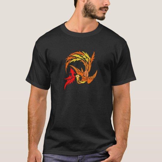 Tribal Phoenix on fire T-Shirt