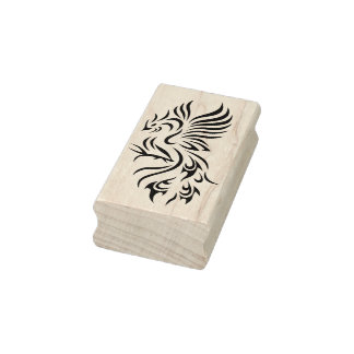 Tribal Phoenix Rubber Stamp