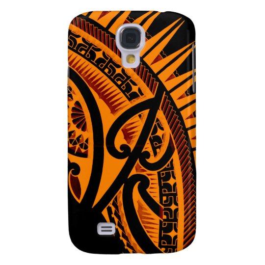 Tribal Polynesian tattoo design handdrawn polyart Galaxy S4