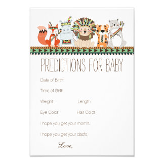 Tribal Predictions Advice for Parents Baby Shower 9 Cm X 13 Cm Invitation Card