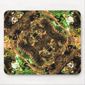 Tribal Print Jungle Mouse Pad
