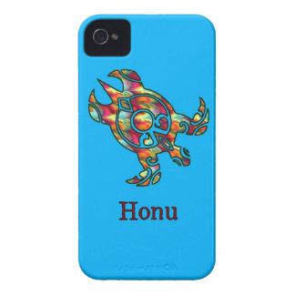 Tribal Rainbow Hawaiian Sea Turtle Case-Mate iPhone 4 Cases