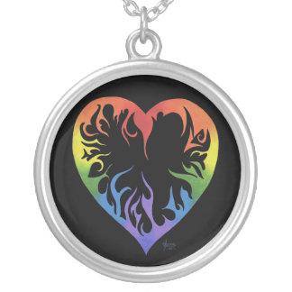 Tribal Rainbow Heart Necklace