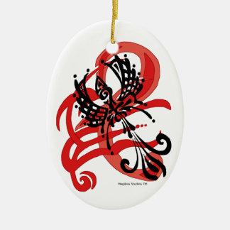 Tribal Raven Ornament