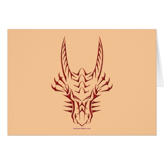 Tribal Red Dragon Head Card