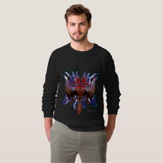 Tribal Red Dragon Men's Raglan Sweatshirt