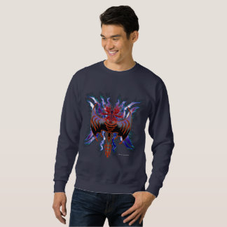Tribal Red Dragon Men's Sweatshirt