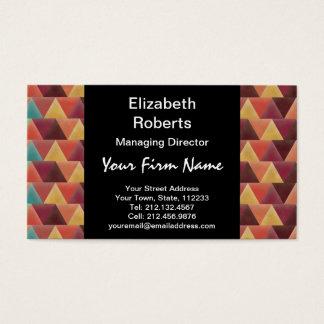 Tribal Retro Geometric Pattern Business Card