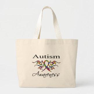 Tribal Ribbon - Autism Awareness Canvas Bag