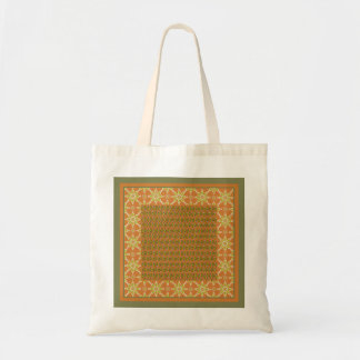 Tribal Rust Green Cream Patterns Budget Tote Bag