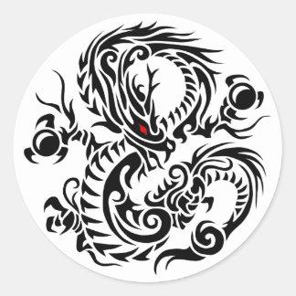 tribal ryuu 4 round sticker