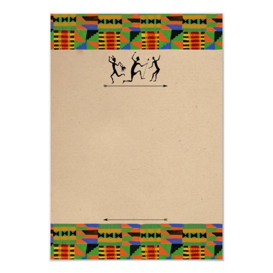 Tribal Safari Party Invite/RSVP Customisable Card