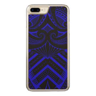 Tribal Samoan tattoo design SBW style Carved iPhone 8 Plus/7 Plus Case