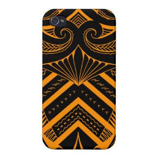Tribal Samoan tattoo design SBW style iPhone 4 Cover