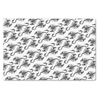 Tribal Scorpion Art Tissue Paper