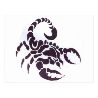 Tribal scorpion post cards