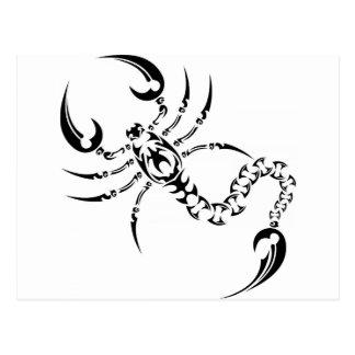 Tribal scorpion post card