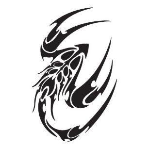 437357a8c Tribal Scorpion Tattoo Design Classic Round Sticker