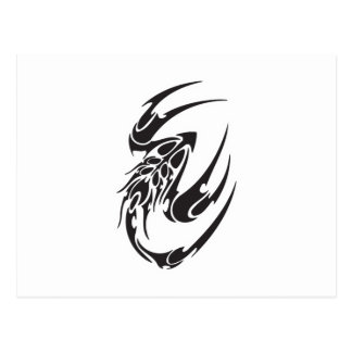 Tribal Scorpion Tattoo Design Post Cards