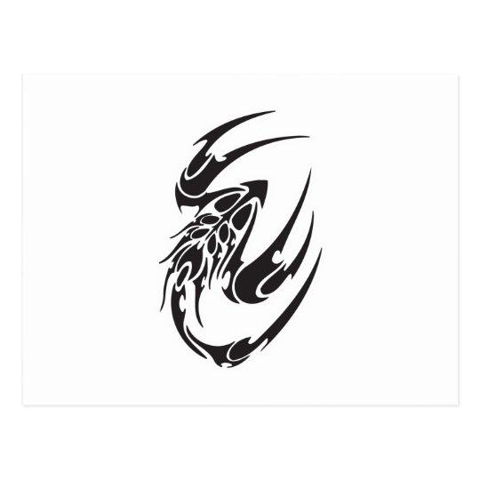 Tribal Scorpion Tattoo Design Postcard