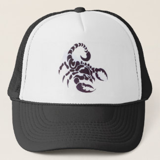 Tribal scorpion trucker hat