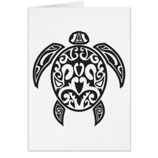 Tribal Sea Turtle Card