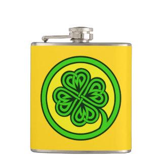 Tribal Shamrock custom flask