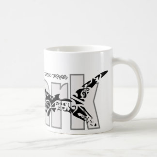 Tribal shark coffee mug