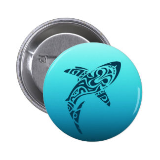 Tribal Shark Tattoo 6 Cm Round Badge