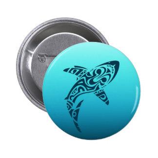 Tribal Shark Tattoo 6 Cm Round Badge