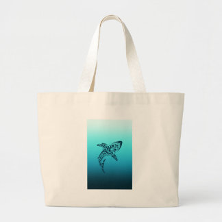Tribal Shark Tattoo Large Tote Bag