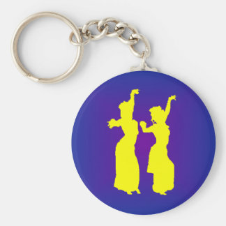 Tribal Sisters Basic Round Button Key Ring