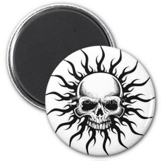 Tribal Skull 6 Cm Round Magnet
