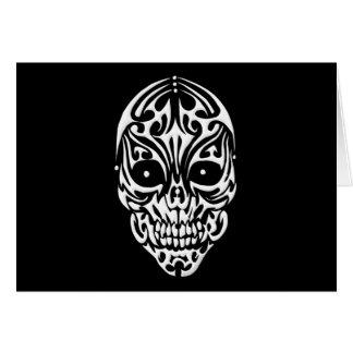 Tribal Skull Card