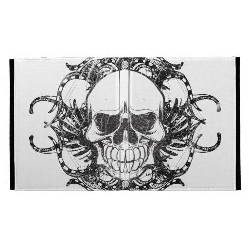 Tribal skull iPad folio case