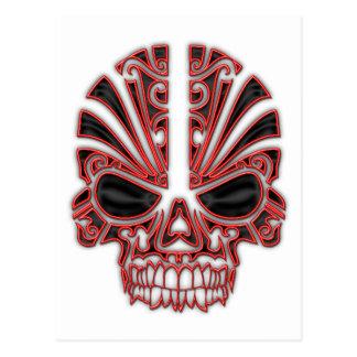 Tribal Skull Post Cards