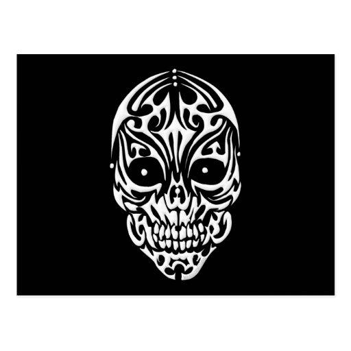 Tribal Skull Post Card
