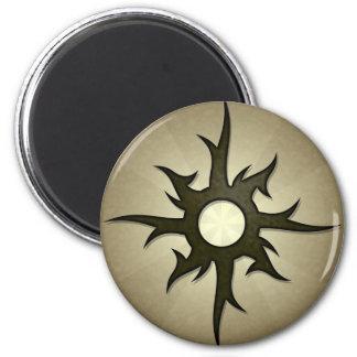 Tribal Solar Thorns Round Magnet