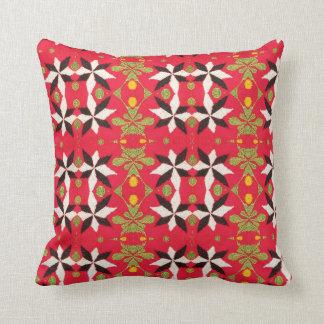 Tribal Southwest Geometric Boho Pattern Red Cushion
