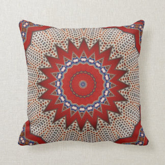 Tribal Southwest Santa Fe Pattern Red Cushions