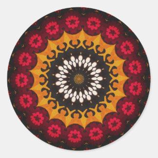 Tribal Southwestern Indian Aztec Print Round Sticker