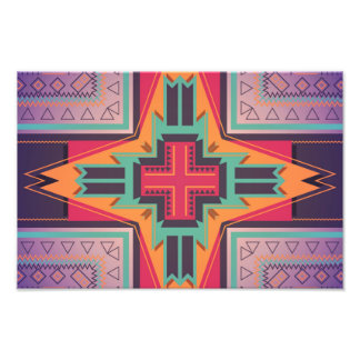Tribal star in retro colors photo
