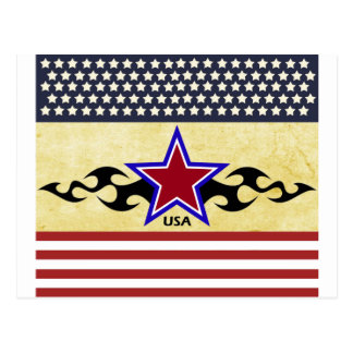 Tribal Stars & Stripes Postcard