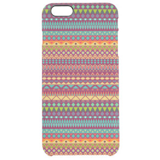 Tribal striped abstract pattern design clear iPhone 6 plus case