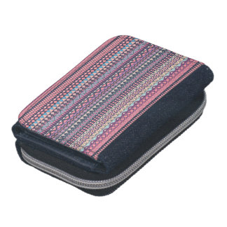 Tribal striped abstract pattern design wallets