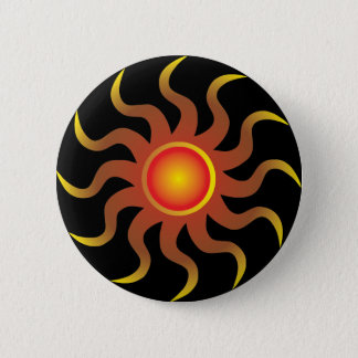 Tribal Sun 6 Cm Round Badge