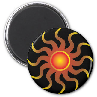 Tribal Sun 6 Cm Round Magnet