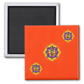 Tribal Sun Abstract Magnet