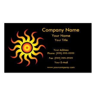 Tribal Sun Double-Sided Standard Business Cards (Pack Of 100)
